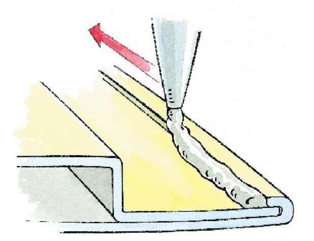 Герметизация швов труб отопления